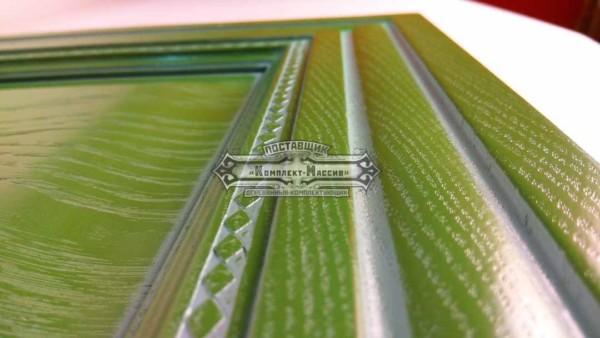 Зеленый фасад для кухни