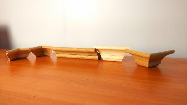 капитель на кухонный карниз, угловая капитель карниза, соединитель карниза