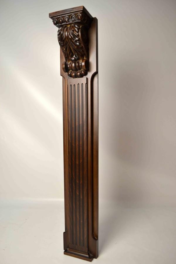 Деревянные пилястры 100мм, Колонны из массива на заказ