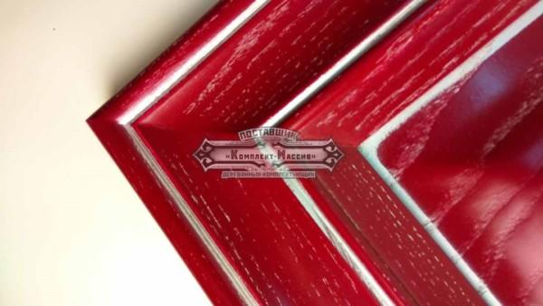 Красные фасады деревянные