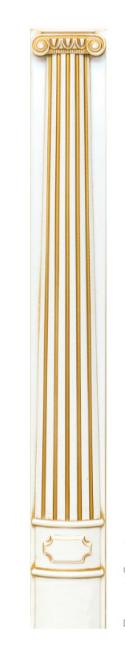 Пилястры комплект массив, Колонны 75мм кухонные