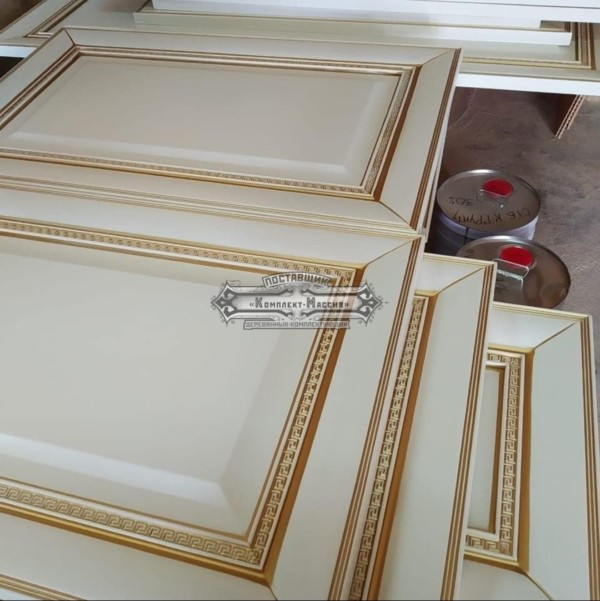 фасады ника белые с золотом
