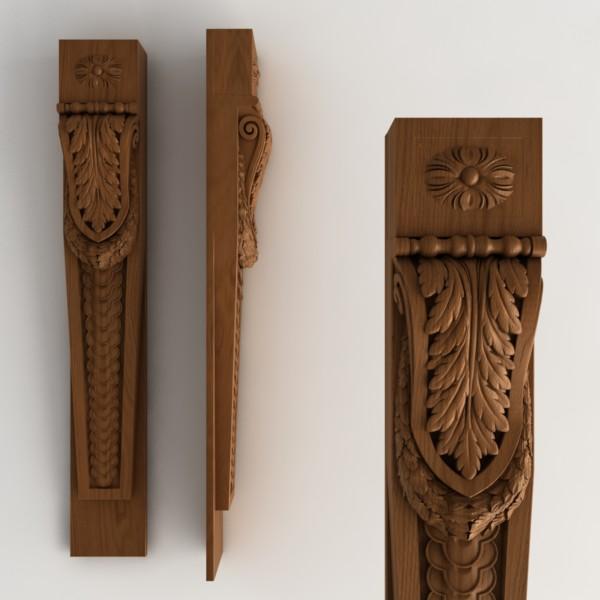 Резные деревянные пилястры