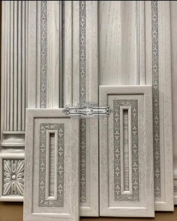 Фасады белые с накаткой