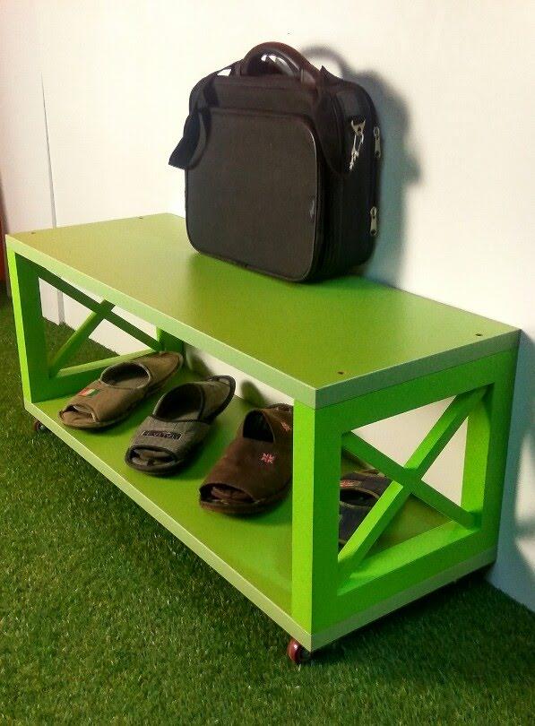 Полка для обуви, скамейка деревянная, мебель для прихожей