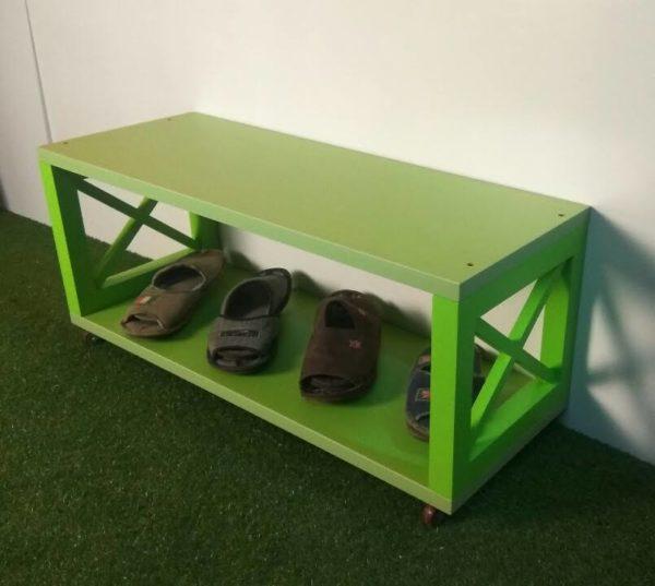 Скамейка для прихожей, полочка для обуви, обувная полка