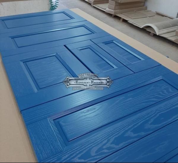 Синие фасады для кухни