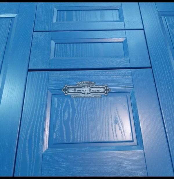 Синие фасады мебельные