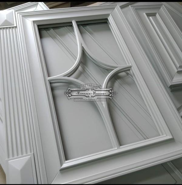 Фасад с фигурной раскладкой