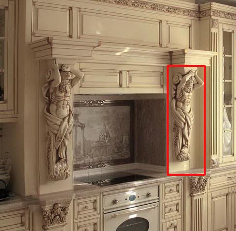 Кухонный портал с атлантами