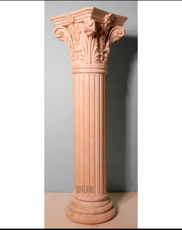 Деревянные колонны для интерьера