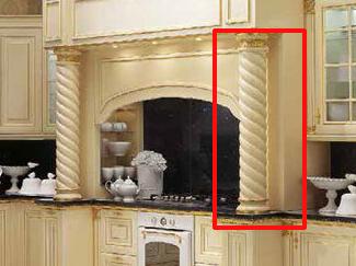 Колонны на кухонном портале