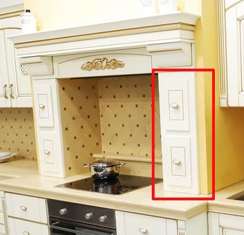 ящики на кухонном портале