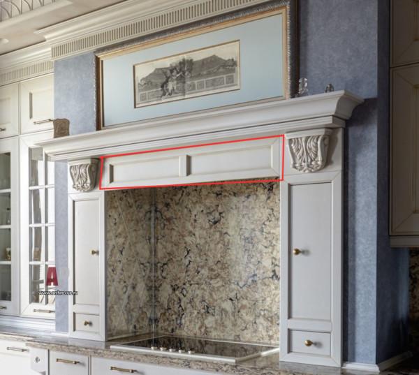 Кухонный портал с капителями