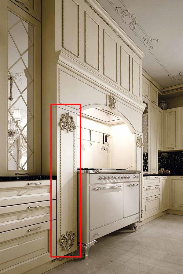 Портал с фасадами на кухне